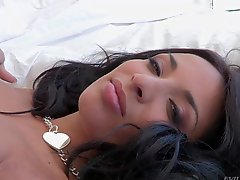 Dark haired pornstar Anissa Kate is
