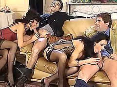 Two hot European grou scenes with beautiful European women