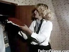 Vintage porn from the 70s with hairy pussies getting nailed