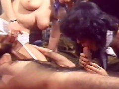 Alluring ladies sharing on large dick