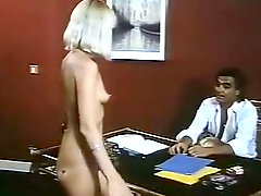 Horny and ardent blondies Serena and Morgane suck strong fat cock in office