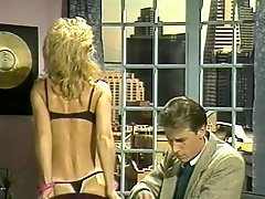 Blonde Retro MILF Sucks and Fucks her Boss Cock in the Office