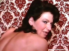 Two retro bitches share a BBC in hardcore interracial FFM threesome
