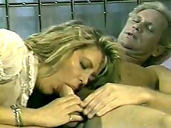 Sensual blonde MILF Sharon Kane gets her pussy eaten after blowjob