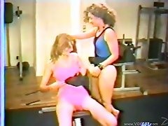 Striking Kim And Hollie Have Lesbian Sex In A Public Gym