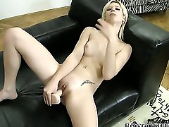 Rocco shoots this pretty blonde with