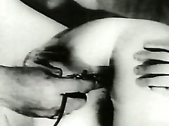 Black and white sex video of girl getting her anus ready for anal sex