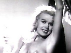 Casting for erotic movie. Retro video. Blonde babe.