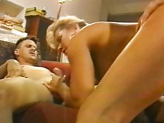 Blond threesome pussy and ass bang
