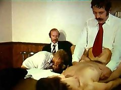 Scorching hot retro orgy in the coutroom