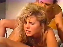 Vintage anal during threesome
