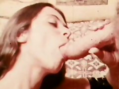 Retro Pornstar Trudy Wellers Gets a Facial from John Holmes Big Cock