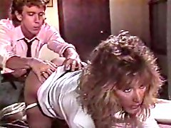 Busty fair haired MILF has awesome 69 style sex with her ex BF on office table
