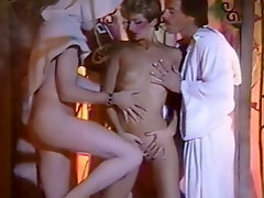 Kinky Indian cuckold looks his bitchy blond chick pleasing two guys with solid BJ