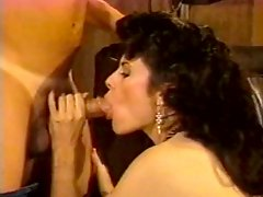 Frisky vintage brunette gives her head and gets fucked doggy