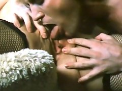 Beautiful classic whore gets her hairy pussy licked and fucked