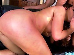 Pornstar beauty swallowing cum