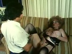 Slutty curly secretary has a wild sex with her cocky boss Ron Jeremy