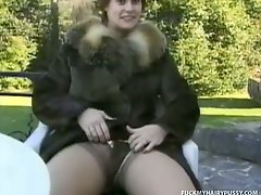 Sexy Girl Fills All Her Furry Holes With Cock