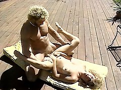 Married pair get laid near pool