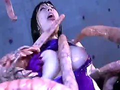 Monster tentacles jizzing big Boob oriental porn attacker all the body