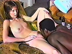Lustful milf sucks a BBC in hardcore retro sex tape