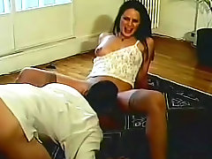 Retro video of hairy cunt sex