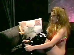 Ashley Nicole Plays The Naughty Stripper in Retro Vid
