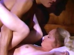 Amateur vintage scene with sexy couple