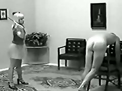 Bareass caning