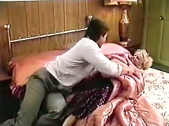 Classy blonde nympho gives an amazing blowjob to her hubby