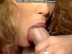 Perverted brunette and blonde maids go wild and madly suck strong cocks