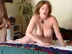 My curvaceous ginger wife gets her cunny banged rough