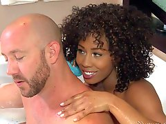 Misty Stone is a curly haired