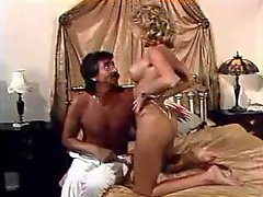 Man with mustache eats pussy in retro movie