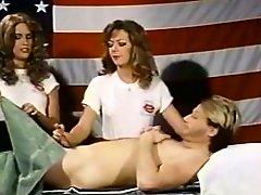 Retro orgy video with three torrid American nymphomaniacs