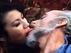 Retro porn with old dude doing oral with Asian