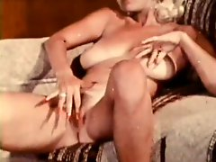 Slutty Vintage Blond Babe Gets Double Penetration Threesome