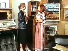 Kinky footage from famous retro porn movie with sexy chicks