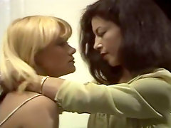 Lusty lesbian Sonia licking hairy pussy of  insatiable lady boss