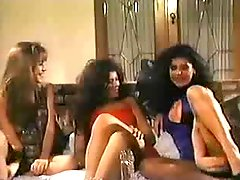 Three lesbians from the 80s play in scene