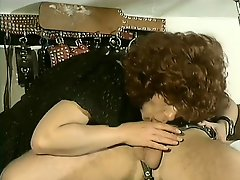 Sultry ginger-haired babe gets lost in the room of filthy BDSM-master