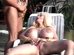 80s pornstar with gigantic tits fucked outdoors
