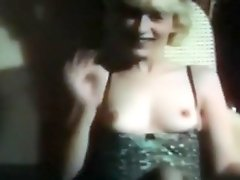 Vintage home episode the beauty wears some fine underware and shows her firm small milk shakes