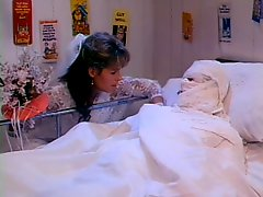 Horny Bride and Hot Nurse Get Fucked in a Hospital - Retro Porn Clip