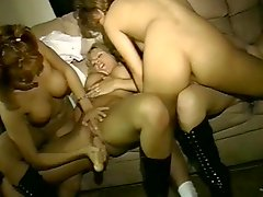 Wild Lesbians Go Hard On Their Pussies With Some Big Ass Dildos