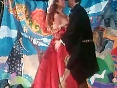 Hot retro slut sucking dick and riding cock in Elizabethan dress
