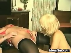 Mothers Sharing A Long Dildo