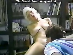 Vintage blonde loves to fondle her client right on the piano
