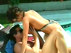 Heather Lee fucks by the pool